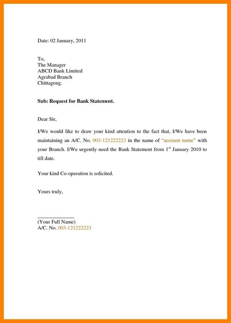 request letter format  bank manager application letter