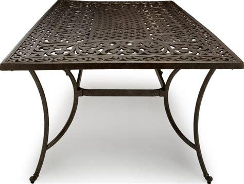 cast aluminum patio table strathwood st thomas cast aluminum rectangular patio