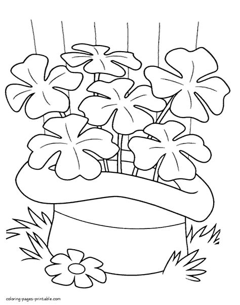 st patricks day coloring pages clover coloring pages