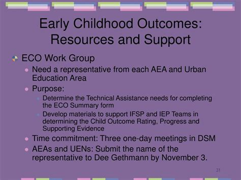 ppt early childhood outcomes powerpoint presentation 842 | early childhood outcomes resources and support l