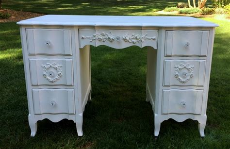 white shabby chic desk shabby chic white painted desk with roses