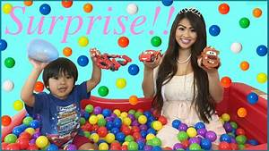 SURPRISE TOYS Giant Ball Pit Challenge Disney Cars Toys ...