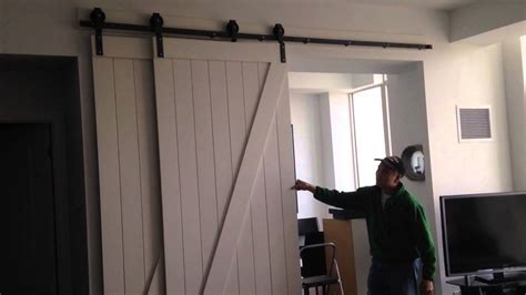 bypass barn door system craig s room they re on the