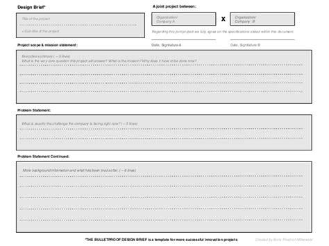 school brief template design brief template madinbelgrade