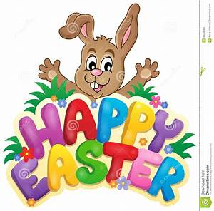 Happy Easter Sign Theme Image 6 Stock Vector - Image: 50326260