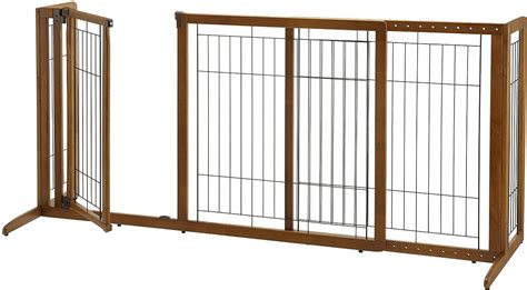 freestanding pet gate small richell deluxe freestanding gate with door for dogs cats