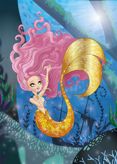 ArtStation - Meeshell Mermaid from ever after high, Azael ...