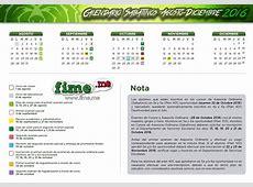 Calendario FIME AgostoDiciembre 2016