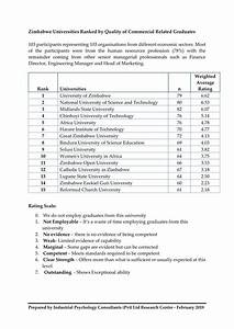 Zimbabwe Universities Graduate Rankings List Out Now ...
