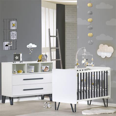 sauthon chambre chambre bébé duo lit commode graphite de sauthon meubles