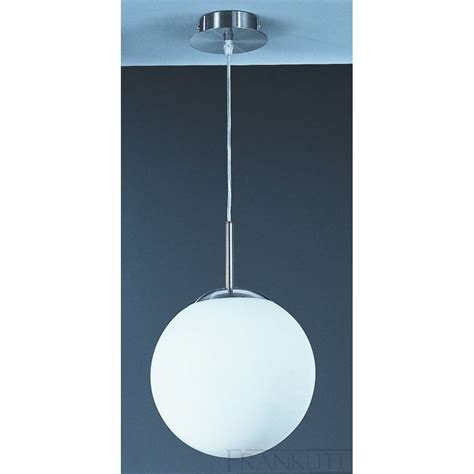 franklite modern medium white globe ceiling pendant