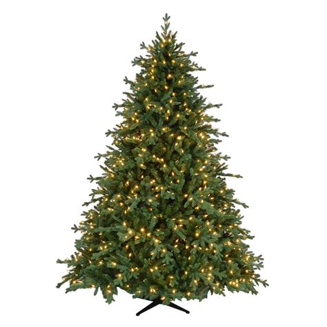 home accents holiday 75 frasier fir home accents 7 5 ft pre lit led royal spruce artificial tree with warm white