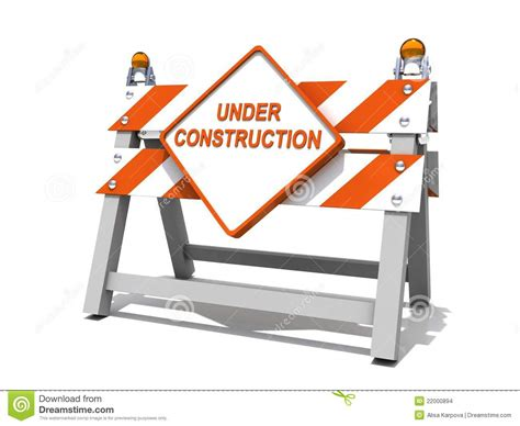 concrete business cards construction road sign barrier stock images image