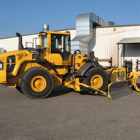 volvo loader mounted snow wing loader snow wing volvo