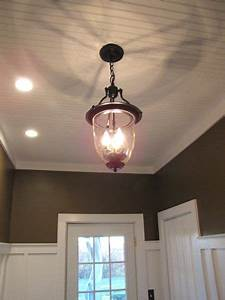 300 brass pendant light turned into pottery barn style With barn style ceiling lights