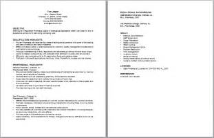 pharmacy school resume exle pharmacist resume sles experience resumes