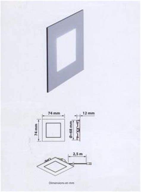 spot led balisage escalier spot led dom pour balisage de plinthe ou escalier