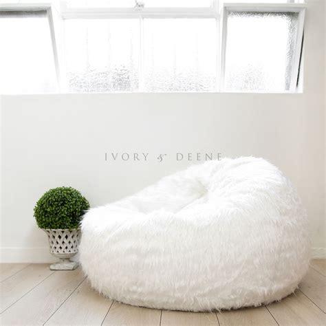 fur beanbag cover soft white bedroom luxury polo bean bag