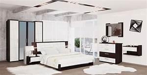 Schlafzimmer Komplett Weiß Hochglanz : schlafzimmer komplett 4 teilig eiche niagara wei hochglanz neu komplett schlafzimmer ~ Indierocktalk.com Haus und Dekorationen