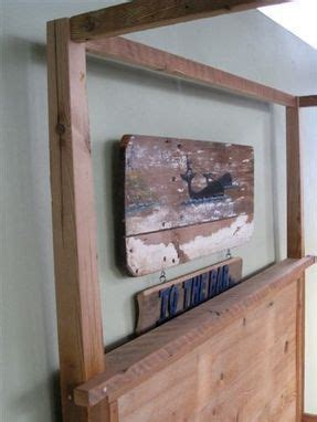hand  wooden canopy bed  ecustomfinishes reclaimed