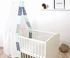 Baby Bettset Mädchen : bebilino babybettw sche mint grau 2 tlg baby bettset ~ Watch28wear.com Haus und Dekorationen
