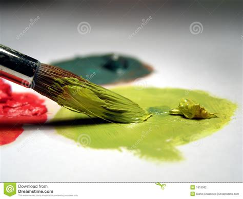 paint brush and colors stock photo image of apply