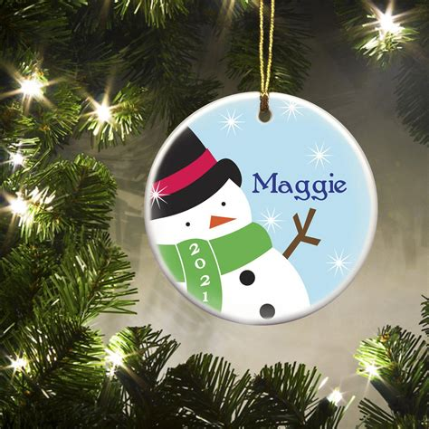 personalized kids christmas ceramic ornaments