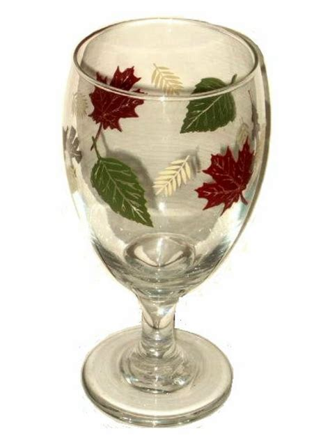 Autumn Leaves Glass Wine Goblet