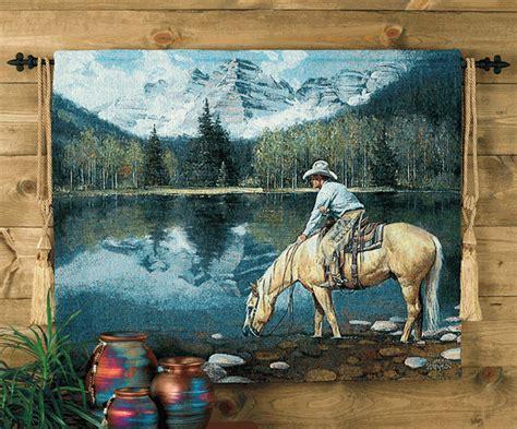 colorado cowboy tapestry wall hanging