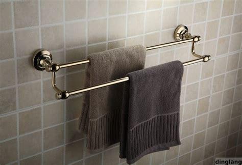 24 quot polished brass bathroom dual towel bar contemporary