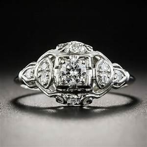 platinum art deco diamond engagement ring With wedding rings art deco