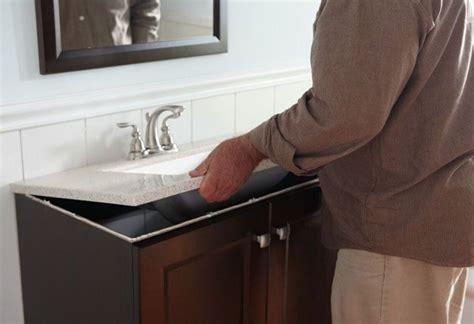 secure vanity top install bath vanity  bathroom
