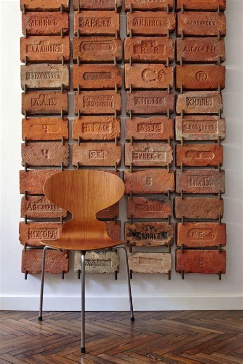vintage wall decor antique bricks used as wall cool idea