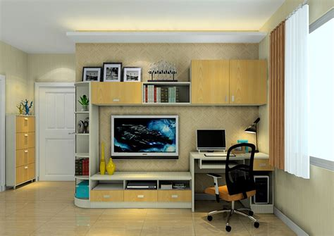 tv and computer mini living room tv cabinet with desk