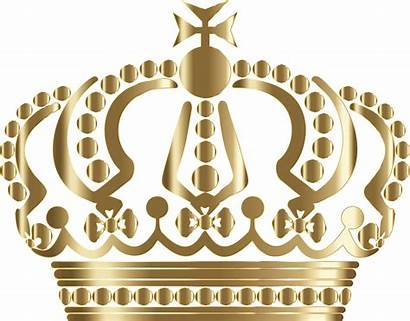 Clipart Crown Gold Background Royalty Queen German