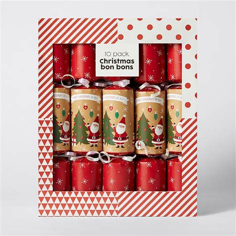 value 10 pack christmas bon bons red santa target