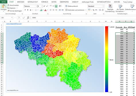 Powerpoint Vector Map Of Belgium's Postal Codes
