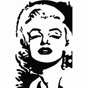 Marilyn Monroe Bilder Schwarz Weiß : sticker art ~ Bigdaddyawards.com Haus und Dekorationen