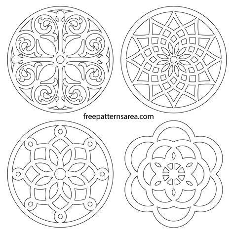 circle trivets vector coaster scroll  patterns bugsy