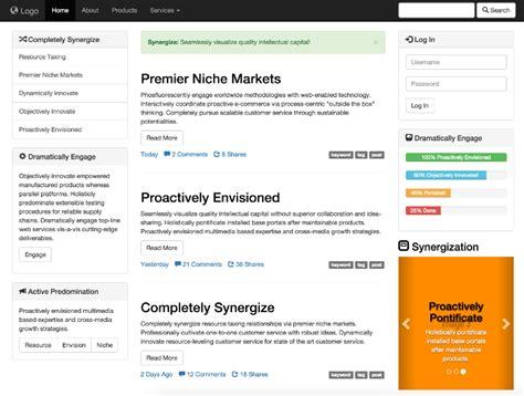 download template prtl html templates