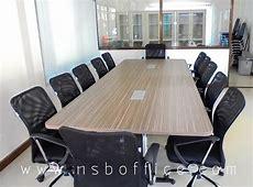 โต๊ะประชุม มุมมน รางไฟยาวพิเศษ, โต๊ะประชุมไม้เมลามีนขา