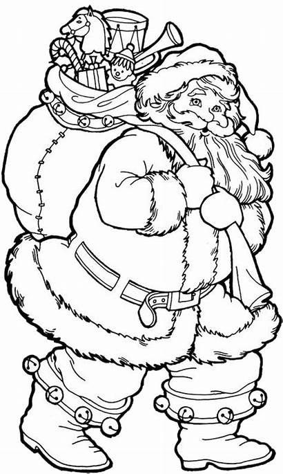 Coloring Santa Claus Kitty Colouring Adults Drawing