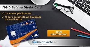 Gutschrift Auf Kreditkarte : kostenloses ing diba girokonto mit kreditkarte im test ~ Orissabook.com Haus und Dekorationen