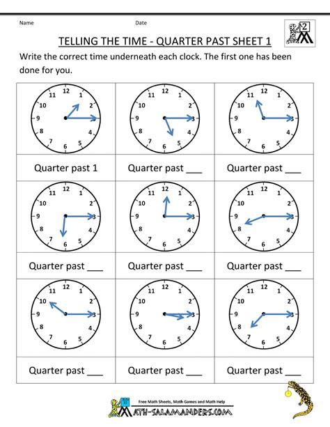 grade math practice telling  time quarter