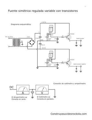 fuente sim 233 trica regulada con transistores by gerson villa gonzalez issuu