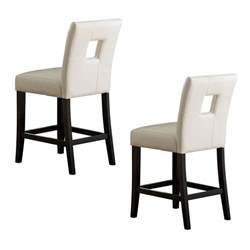 kitchen island chair homelegance 3270 24s1 archstone counter height dining chair set of 2 atg stores