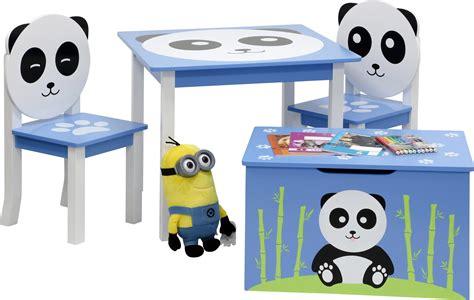 Tisch Mit Stühlen Und Truhenbank  Panda Kindermöbel