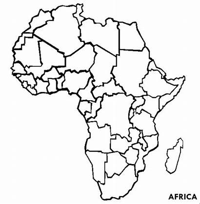 Africa Coloring Pages Map Continents Continent African