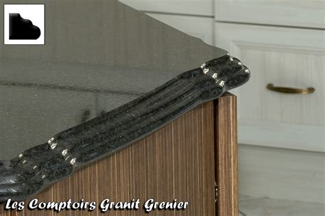 comptoir de granit et quartz finitions disponibles