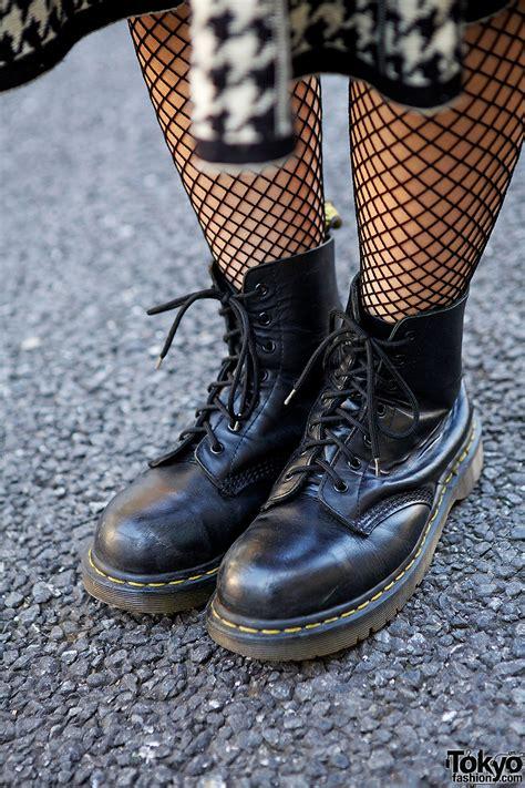 fishnet stockings dr martens boots tokyo fashion news